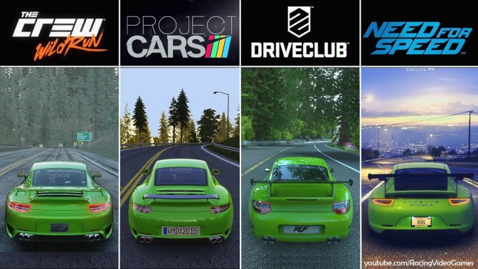 IM VERGLEICH – The Crew, Project Cars, Driveclub, Need For Speed