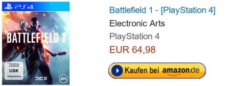 Amazon.de Battlefield 1Edition