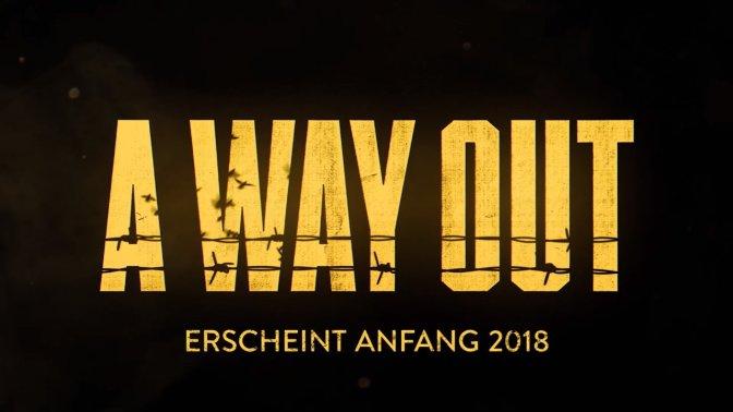 A WAY OUT – neues Abenteuer für Couch- und Online-Koop angekündigt