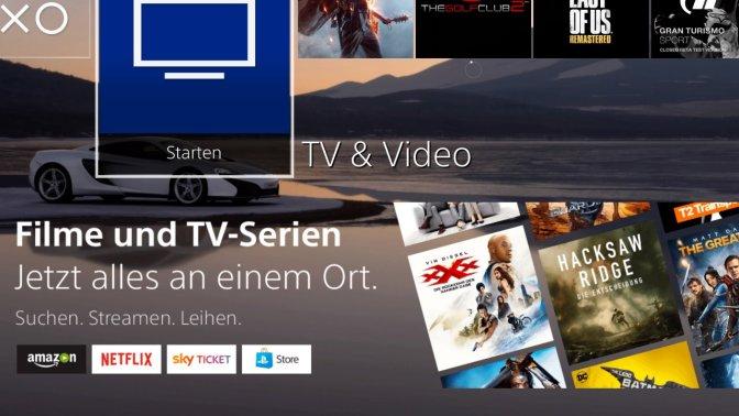 PLAYSTATION 4 – neues Update für die TV & Video App